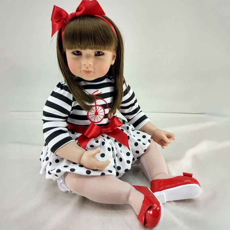 50 см Моделирование куклы красотка с симпатичное платье вставить парик силикон для безопасный дом Игрушечные лошадки Мода развивающие колл... ...