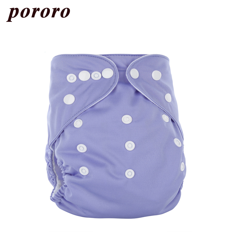 [Pororo] 2017 Reusable Baby Diapers Insert 3 Layer Superfine Fiber Nappy Fralda PUL Outer Waterproof 5-12 Kg Baby Cloth Diapers
