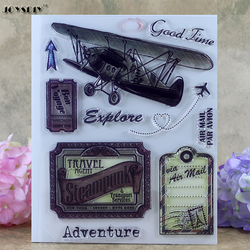 Good Time Adventure Air Travel Scrapbook DIY photo cards account rubber stamp clear stamp transparent stamp card Stamper 14*18cm spider texture background scrapbook diy photo cards account rubber stamp clear stamp transparent stamp handmade card stamp