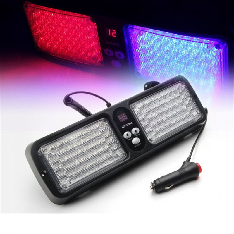20W LED Sun Visor Panel Car Truck Warning Light Windshield Beacons Flashing Police Strobe Lights Viper Fog Emergency Signal Lamp