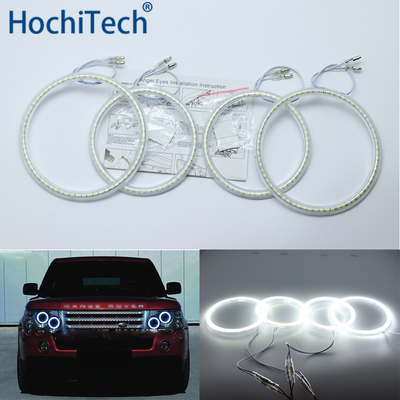 все цены на Ultra bright SMD white LED angel eyes halo ring kit dayt light DRL For Land Rover Range Rover L322 Vogue 2003-2009 XENON light