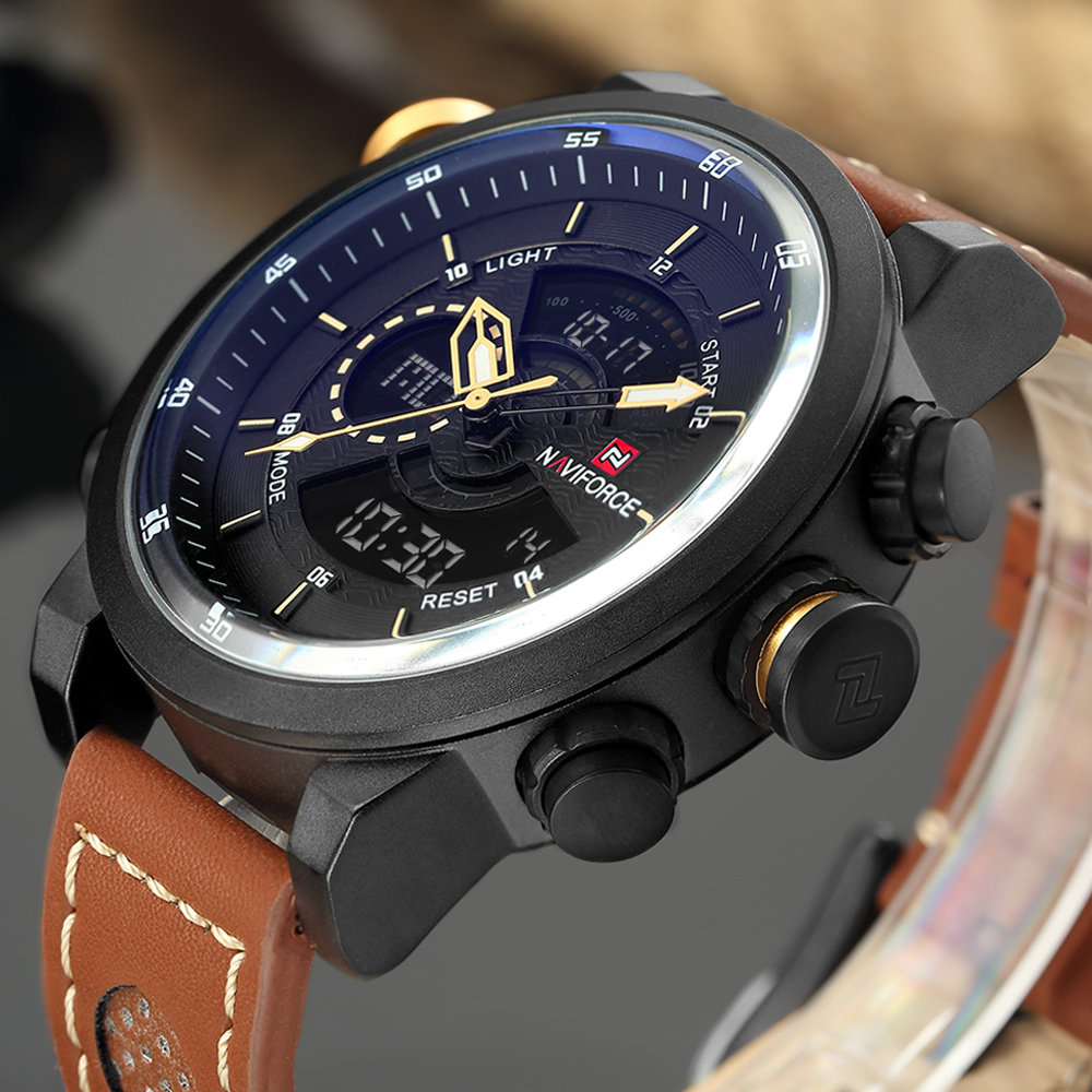 цены NAVIFORCE Top Luxury Brand Men's watches Men Sport Military Wrist watch Date Display Saat Male Clock Waterproof Relogio Masculio