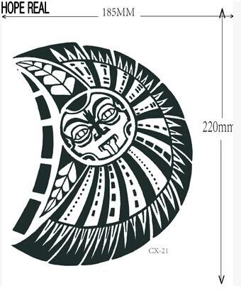 1lot=1pcs arm +1pcs chest waterproof tattoo stickers cx- 21 prothorax twinset big 3d tatoo stickers men 4