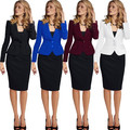 2017 Spring Coat Short Paragraph Slim Single Row Two Button Women Business Suits Formal Office Suits Work Plus Size Xxxxl Xxxl