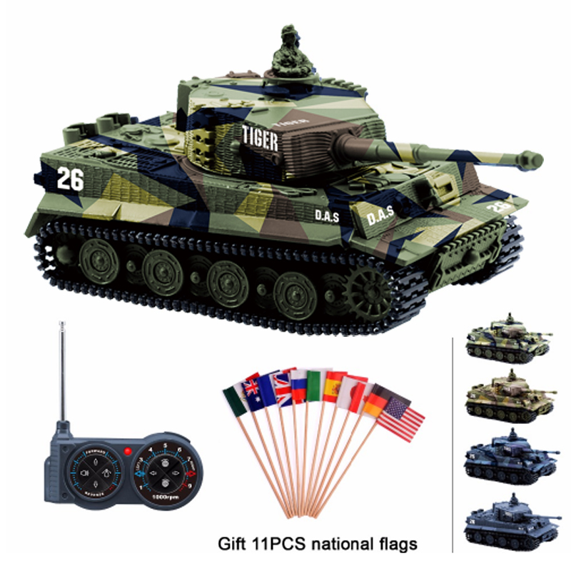 Kind-Hearted Rc Tank Germany Tiger I Colorful 1:72 Vivid High Simulated Great Wall 2117 Mini Remote Control Toy