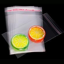 Визуальный сенсорный 100 шт./упак. Resealable Пластик прозрачные сумки прозрачный целлофановый самоклеющийся Пластик мешок из полиуретана с открытыми порами упаковка коробка для хранения