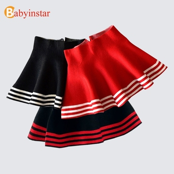 e57bf5e2e Babyinstar bebé niñas faldas 2019 niñas de punto de rayas, falda de niño  ropa de niños chico Tutu vestido tul faldas para 4- 15 T