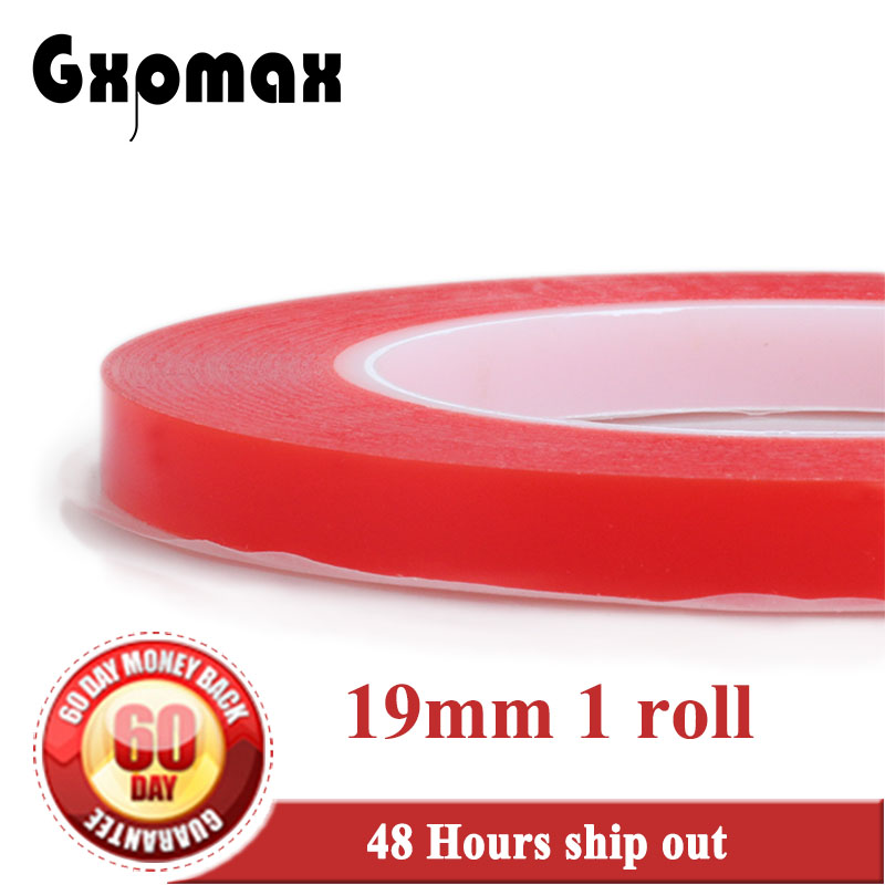 1x (0.2mm Thick) 19mm *25M High Strength Acrylic Gel Adhesive two sided Adhesive PET Clear Sticky Tape No Trace,accept customize
