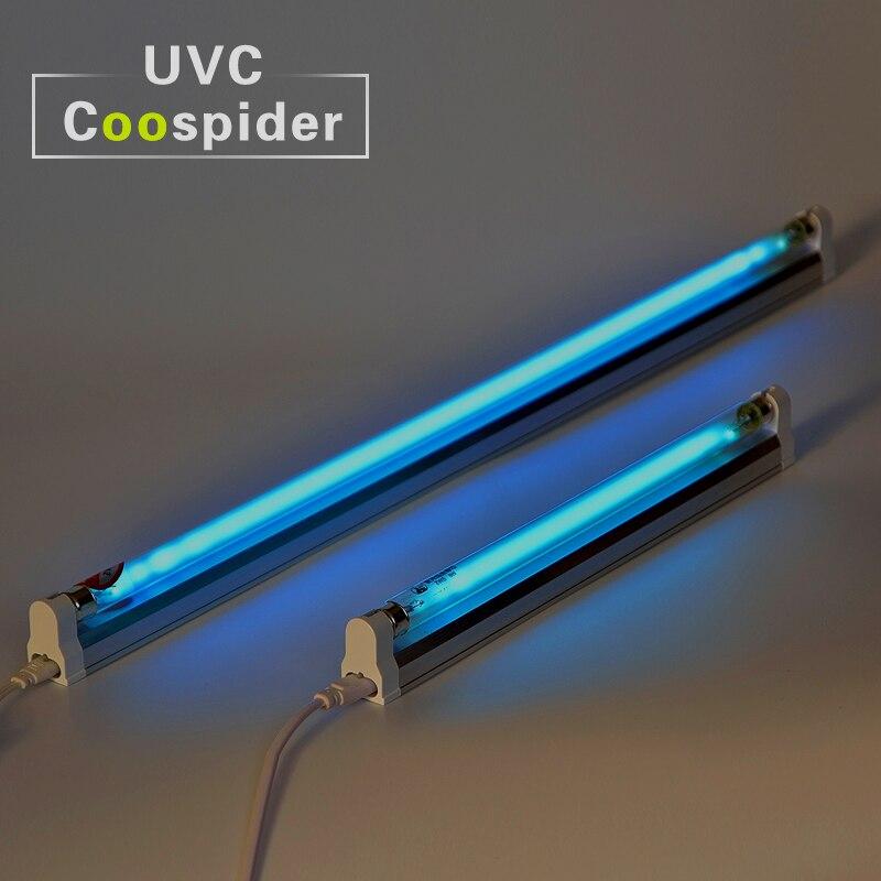 15 w Quartz UV Germicide Lampe CFL Kit Tuer les acariens Antivirus Déodorant UVC Sans Ozone Désinfection 110 v-240 v
