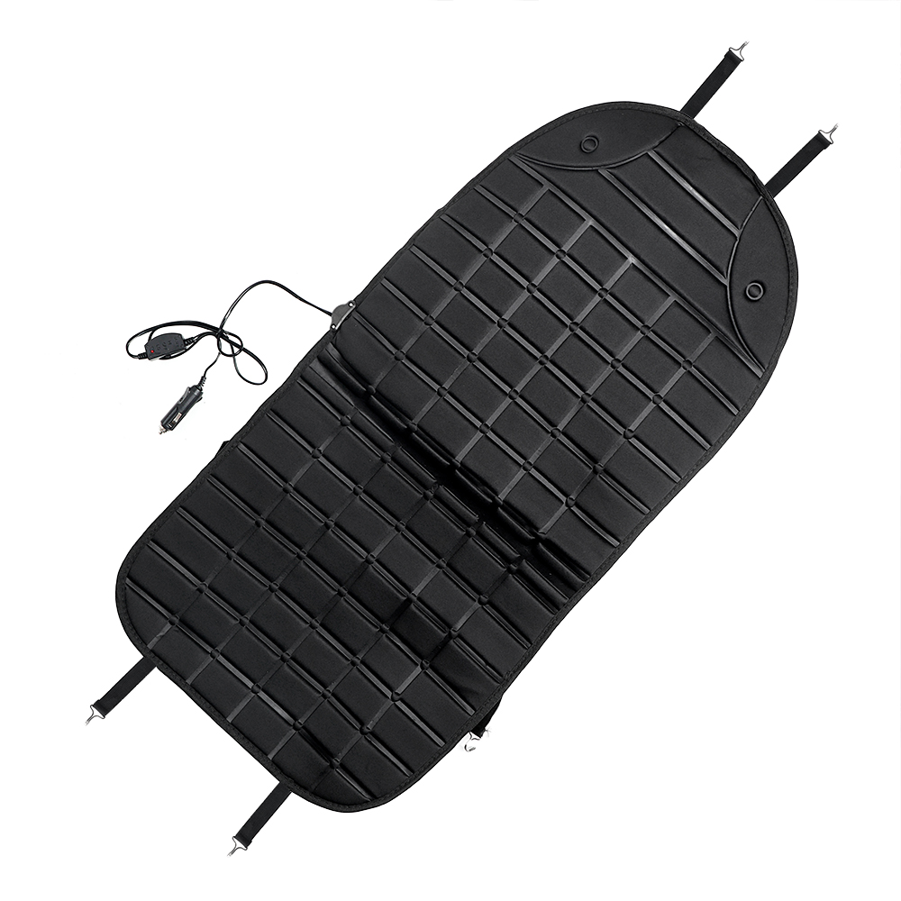 YOSOLO Winter Supply Electric Heated Heater Warmer Car Seat Cushion Pad Interior Accessories Black Gray Automobiles Seat Covers