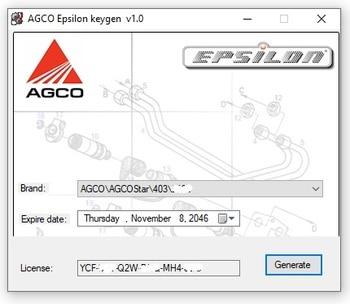 AGCO Epsilon Security Key generator