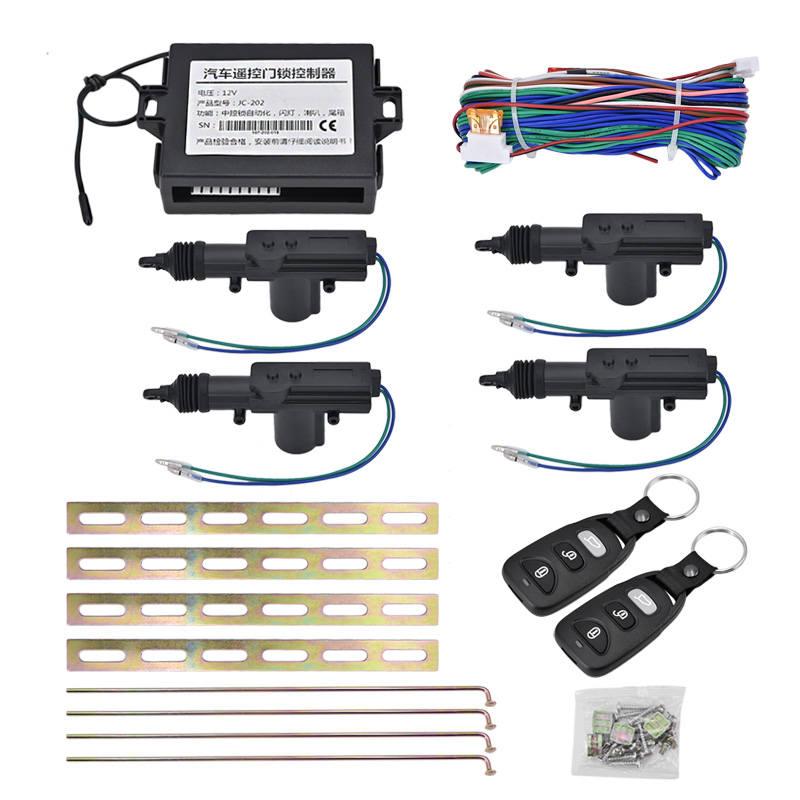 10pcs/lot Universal car Central Locking Alarm Security Kit Remote 4 Door Bracket Keyless Entry System 360 Degree Car alarm