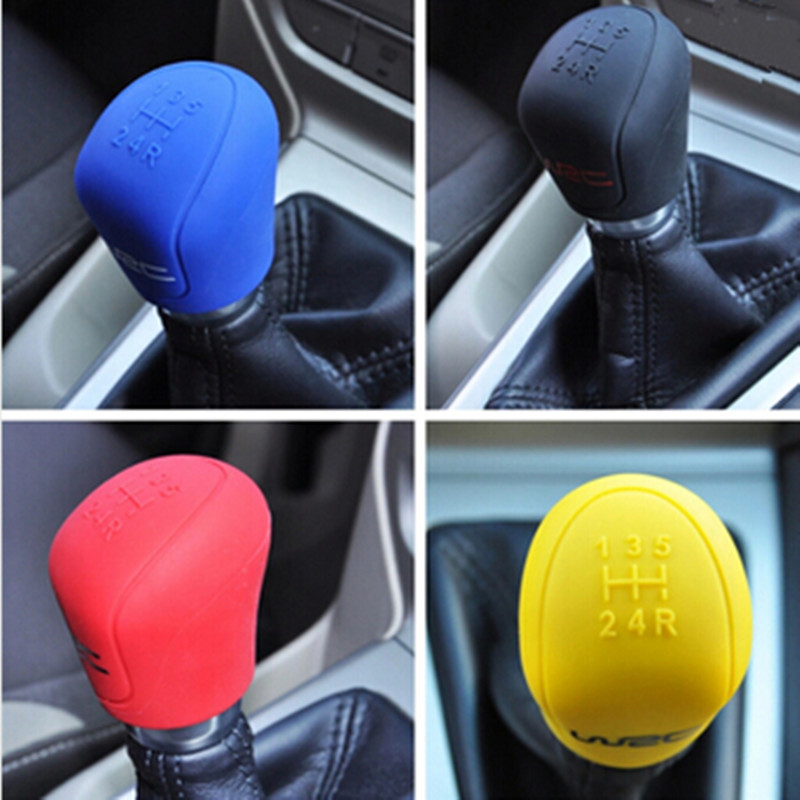 Color My Life Car Gear Head Shift Knob Cover Gear Shift Handle Ball Collars For Ford Focus 2 3 4 MK2 MK3 MK4 MT 2009 - 2017