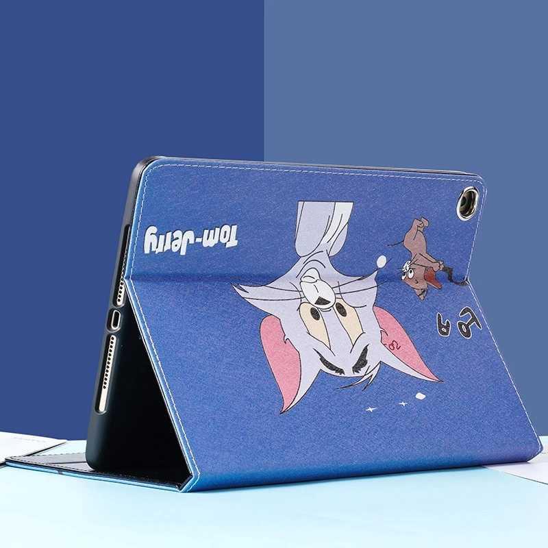 القط والفأر نمط الذكية حافظة لجهاز iPad الهواء 1/2 جديد باد 9.7 حامل الترا سليم غطاء ل باد 234 mini12345 السيارات ويك/النوم