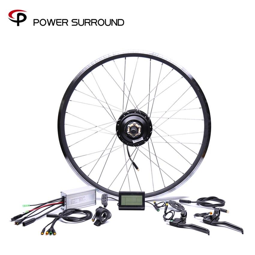 Kit de Conversion de vélo électrique avant/arrière étanche 48v500w Bafang moteurs de moyeu sans brosse 20 ''26'' 28''diy roue