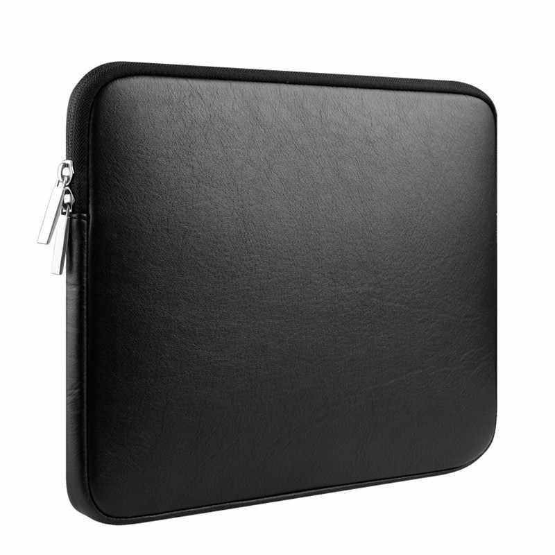 لينة بولي Leather الجلود لماك بوك اير 13 برو الشبكية 11 12 14 بوصة أجهزة الكمبيوتر المحمول حقيبة 13.3 15 شريط اللمس مقاوم للماء الحقيبة كم حقيبة