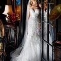 Mermaid Wedding Dresses High Front Slit Plunging Sexy Sweetheart Elegant Lace Bridal Gowns Split Tulle  vestido noiva sereia