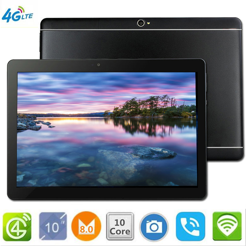 CARBAYTA tablettes S109 10.1 'wifi 10 Core 128 GB ROM double caméra 8MP Android 8.0 tablette PC 4G LTE GPS bluetooth téléphone MT6797