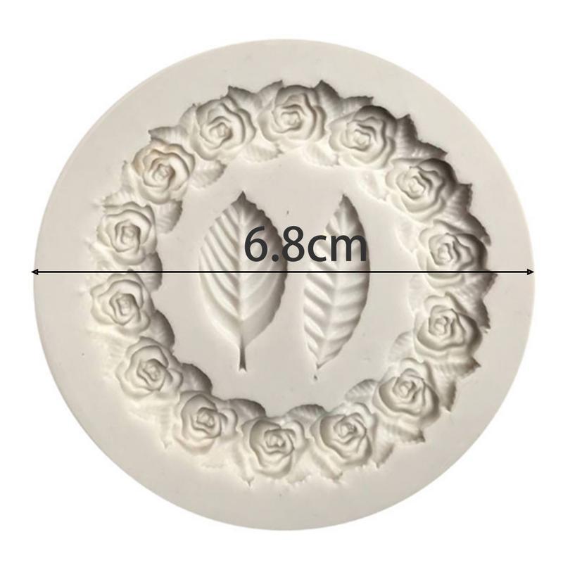 """Круглая форма для выпечки в виде цветка Форма для бисквитов печенье """"сделай сам"""" Шоколадная форма для выпечки ручной работы заготовка для мыла декоративная форма для торта - Цвет: Белый"""