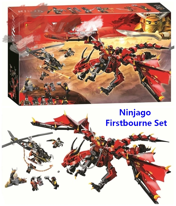 цена New Ninjago Firstbourne Set Building Blocks DIY Bricks Educational Toys For Children Best Gifts Compatible With Lego 70653 Model