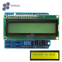 I2C LCD 1602 Shield Display Module With Touch Keys Yellow Green Backlight For Arduino UNO Mega2560