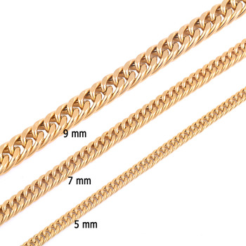 Stainless Steel Gold Plated Chain Necklace