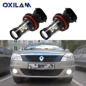 2 шт. PSX24W светодиодный противотуманный фонарь для автомобиля Renault Reno Logan 2 Laguna Duster Trafic Megane Captur H11 H8 светодиодный светильник H16 для вождения DRL