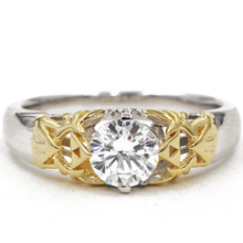 Cosplay Zelda Women Solitaire Engagement Ring 0.8CT Moissanites Lab Grown Diamond 14K Two-tone Gold Cartoon Game Wedding Ring