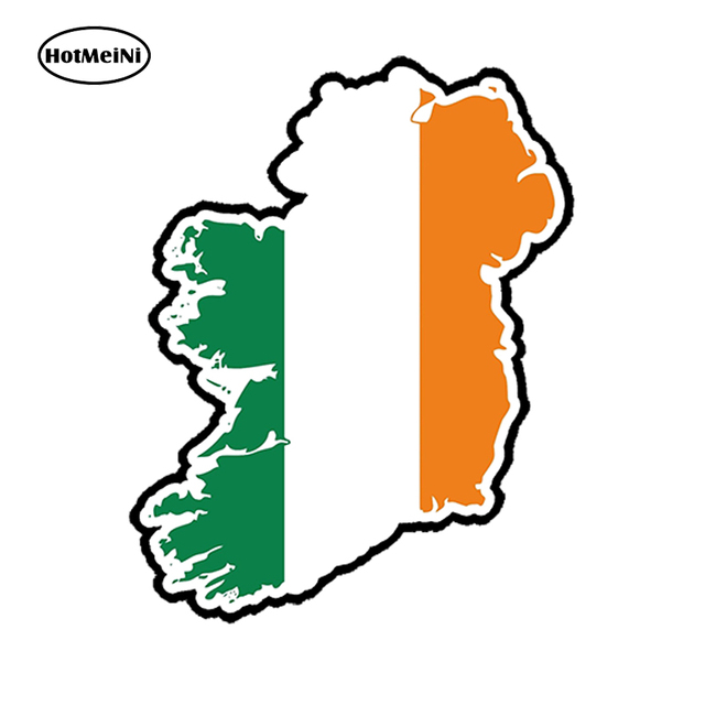 Country Map Of Ireland.Hotmeini Car Sticker 3d Ireland Eire Flag Map Country Car Styling