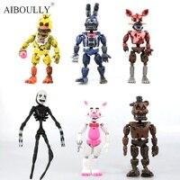 6 pz/set 14-17 cm vendita Calda bonnie FNAF delle Cinque Notti A Freddy freddy giocattolo Action Figure del fumetto giocattoli Per Bambini Regalo