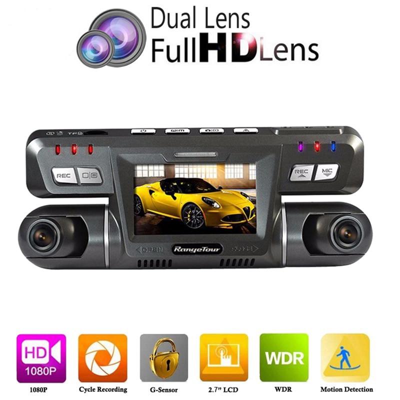 B80 Dual Lens Auto Car DVR Video Camera Recorder NTK96655 Dashcam Full HD 1080P 170 Degree + 120 Degree Dash Cam