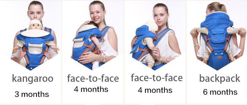 Multifunctional Ergonomic Baby Carrier Sling Backpack 9 In 1 Newborn Infant Carrying Belt For 3-36 Months 17