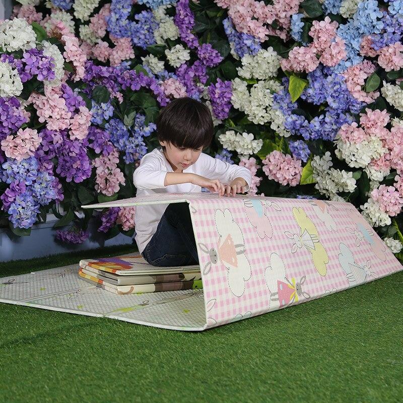 Remise spéciale jouer plancher inodore jouer infantile XPE mousse dessin animé épaissi 180*120*0.6 cm bambin ramper tapis