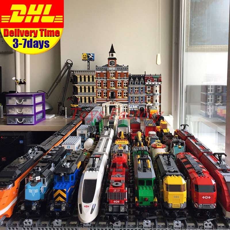 Educativos tren Motor 02008, 02009, 02010, 21005, 21006, 21011, 60052 Compatible 60098 60051 Buillding bloques ladrillos juguetes educativos