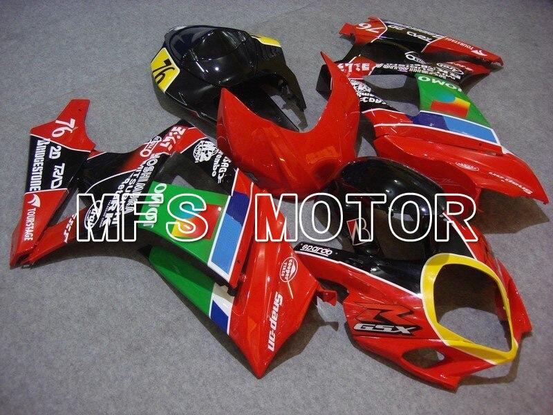 Для Suzuki GSXR 1000 К7 2007 2008 АБС впрыска Обтекателя комплекты GSXR1000 К7 07 08 - ДЖОМО - красный/черный/зеленый