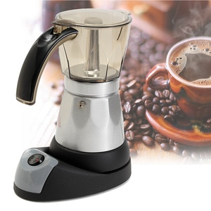 Image 1 - Кухонная мини Кофеварка электрическая автоматическая кофемашина кофейник 6 чашек эспрессо Перколятор мокко чайник бытовой