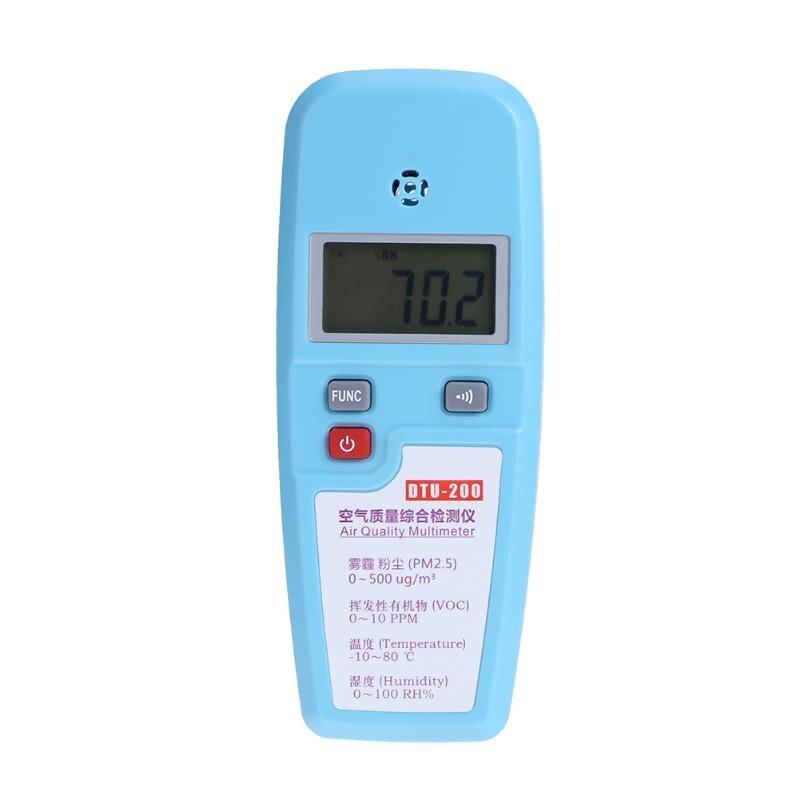 Qualité de l'air multimètre poussière cov température hygromètre détecteur atmosphérique haze PM2.5 formaldéhyde testeur d'alcool