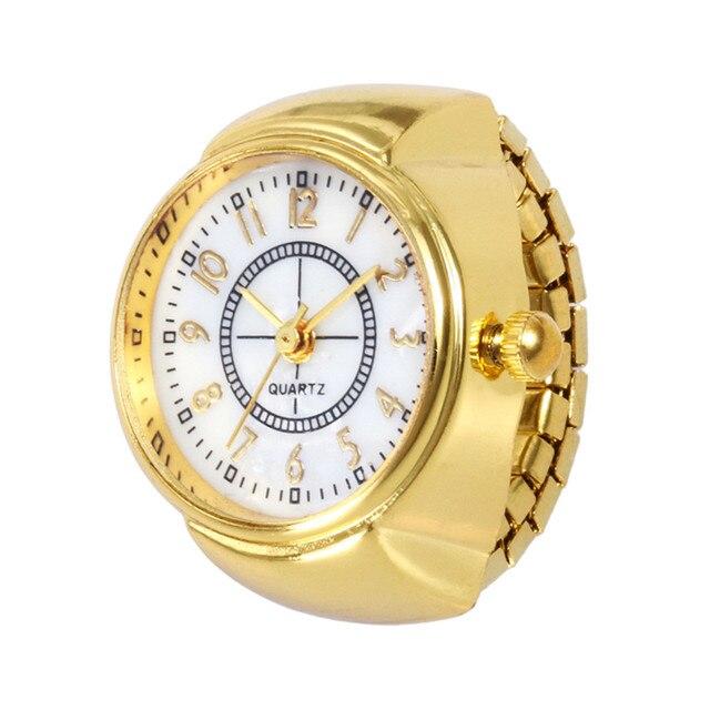Finger Ring Quartz Watch Pocket Fob Watches Dial Quartz Analog Creative Cool Ela