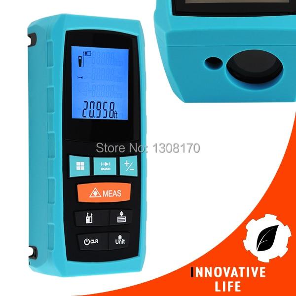 0.1~60m Range Digital Laser Distance Meter Measure Area Volume Pythagoras Finder Tool Meter Feet Inches Units Industrial Use  цены