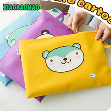 A4 Oxford File Folder Bag Portable Office Supplies Organizer Bags Casual Ladies Tote Document Handbag for Women