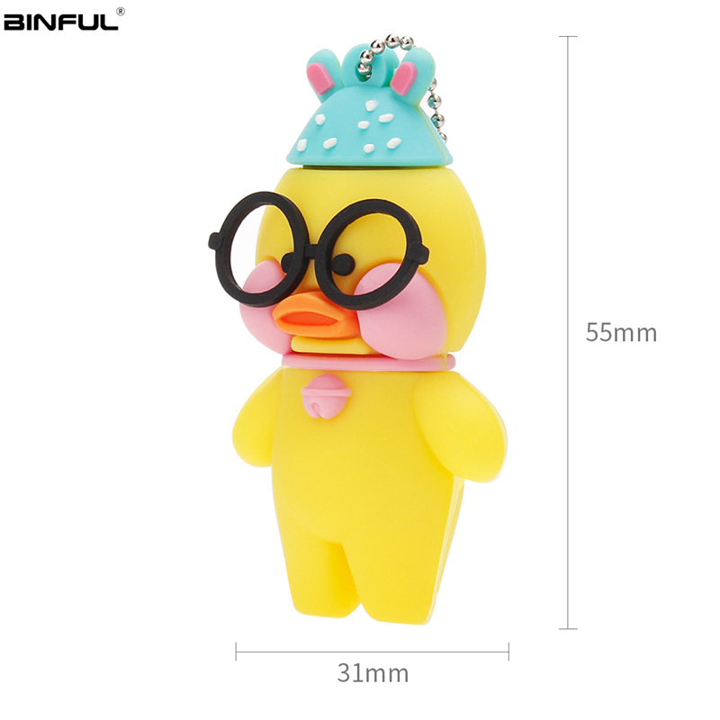 Image 3 - Pen Drive 128GB 64GB 32GB Usb Flash Drive Cute Cartoon Hyaluronic Acid Duck Flash Memory Stick Usb 2.0 High Quality Thumbdrives-in USB Flash Drives from Computer & Office