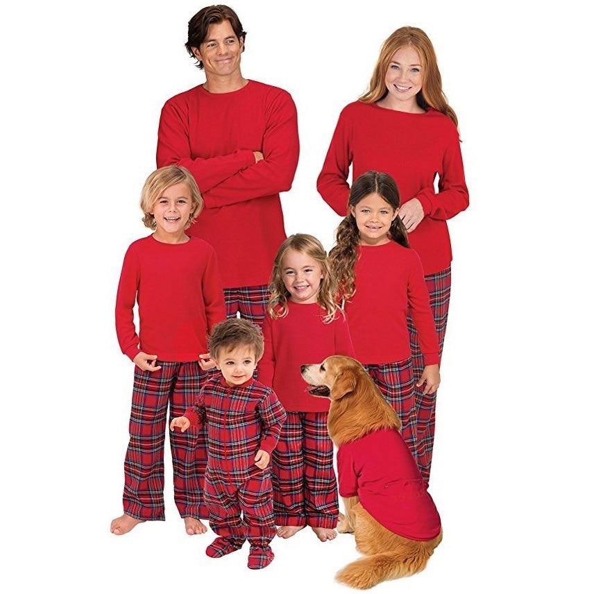 family set plaid christmas family pajamas matching sleepwear home wear clothes family christmas pajamas family clothing sets yj in matching family outfits - Plaid Christmas Pajamas