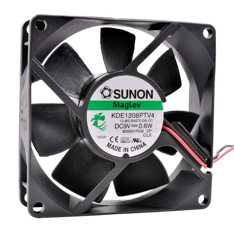 Original KDE1208PTV4 8 cm 80mm fan 8025 80x80x25mm DC9V 0,6 watt Magnetische suspension lager lüfter