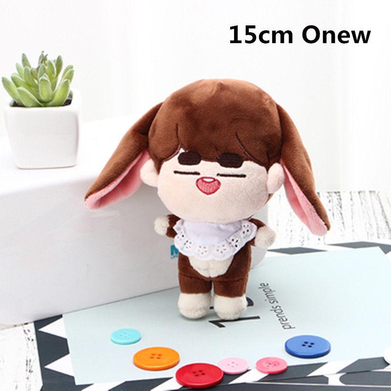 SGDOLL Korea KPOP Shinee Plush SHINee Onew Animal Doll PP Cotton Cute Toy Gift Fans New Fashion 15cm/6 inch disney princess brass key 2003 holiday collection porcelain doll snow white