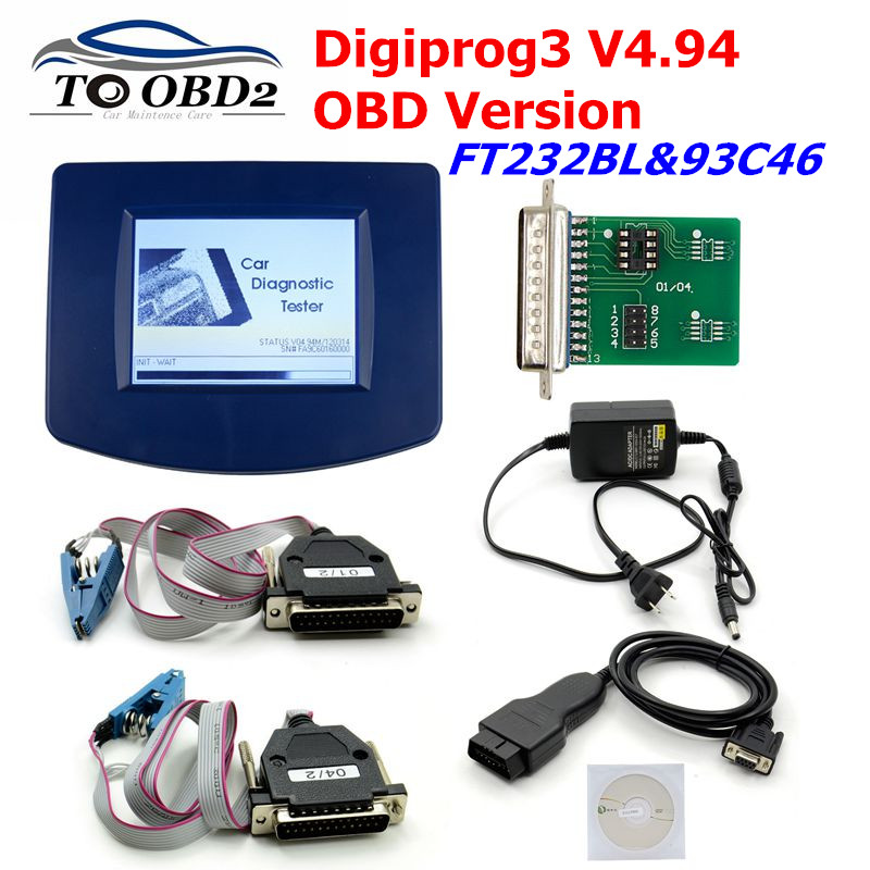 DIGIPROG 3 V4.94 Full Set OBD Version Odometer Correction 2019 Original CPU FTDI Digiprog3 Digiprog 3 V4.94 Mileage Correction