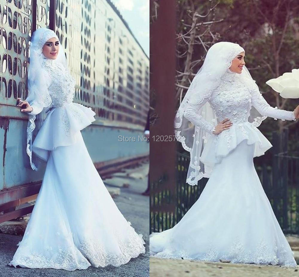 Amazing Muslim White Wedding Dress Composition - All Wedding Dresses ...