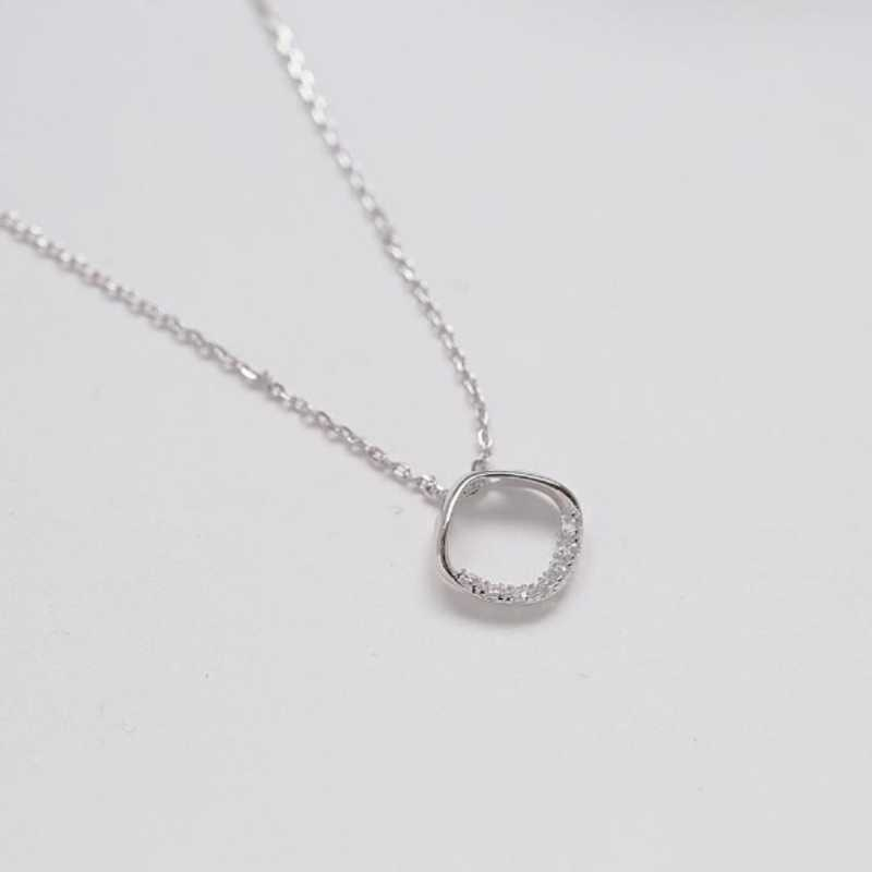 Detail Feedback Questions About Rhinestone Clavicle Chain Pendant Korea Girlfriend Birthday Gift 925 Sterling Silver Temperament Female Necklace SNE116 On