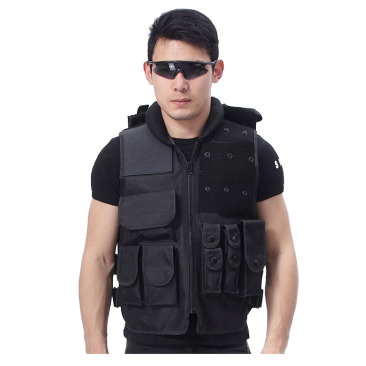 New Sale Tactical vest outdoor live-action CS field protective security training (Small Large) black protective vest security security vest cs game field wg essential