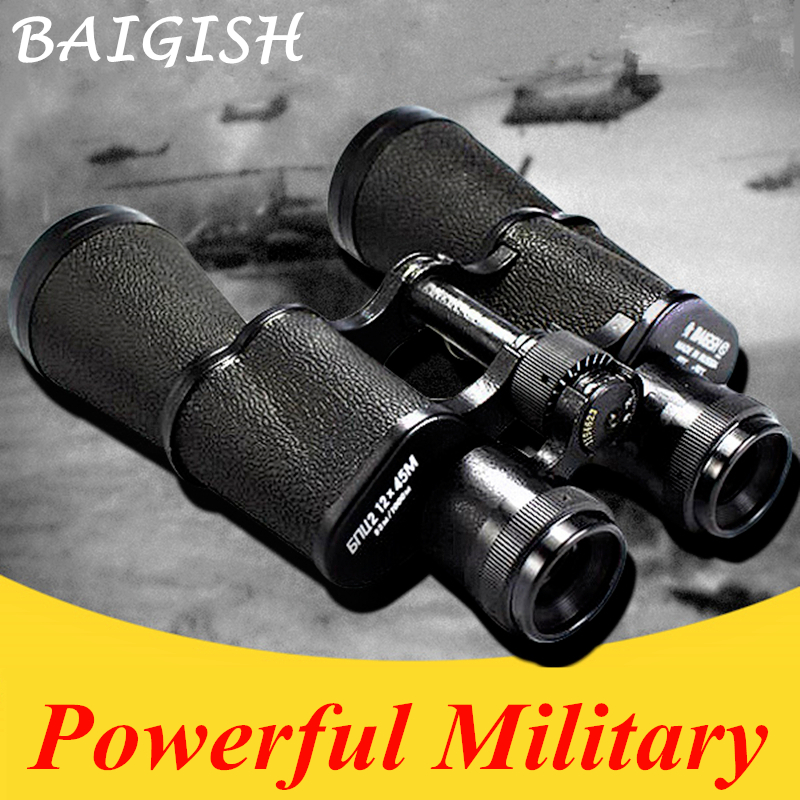 TODO o Metal HD Binóculos Lll Noite Telescópio Visão Grande-angular Binocular Militar bolso min Monocular zoom Russo Baigish 20X50