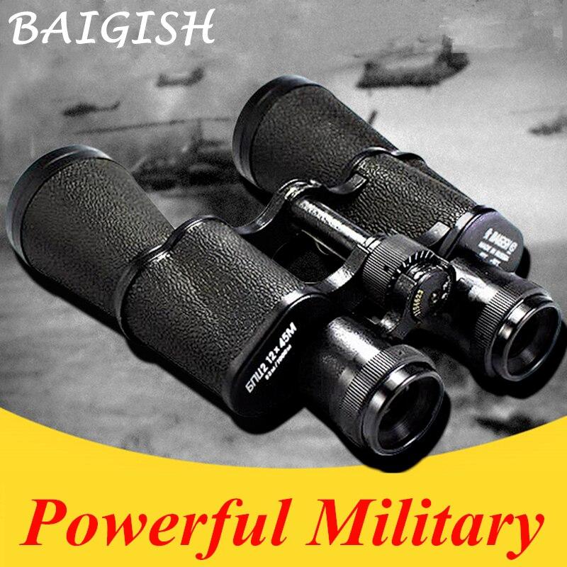 Todo o metal hd binóculos militar binocular lll visão noturna telescópio grande angular bolso min russo zoom monocular baigish 20x50
